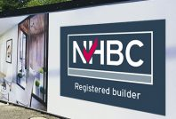 NHBC registered builder hoarding