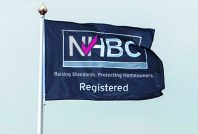 Registered builder site flags, flag poles and showhome merchandise
